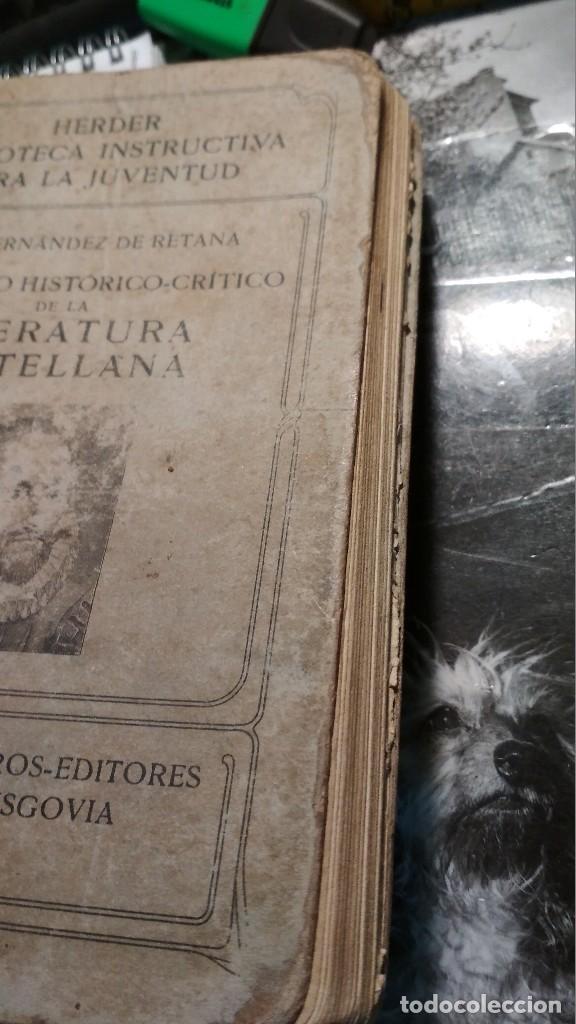Libros antiguos: COMPENDIO HISTORICO CRITICO DE LA LITERATURA CASTELLANA. HERDER Y CIA LIBREROS FRIBURGO, AÑOS 20 - Foto 9 - 122318083