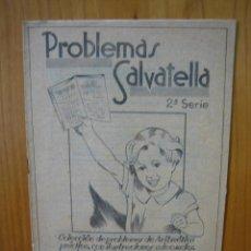 Libros antiguos: CARTILLA DE COLEGIO PROBLEMAS SALVATELLA. Lote 122918967