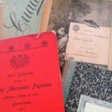 Libros antiguos: LIBROS DEL COLEGIO BARCELONÉS PARA SEÑORITAS VIRGEN DE LAS MERCEDES (1919-1928) - MERCEDES PUJADAS. Lote 124659475