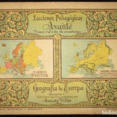 Libros antiguos: LECCIONES PEDAGÓGICAS AVANTE. GEOGRAFÍA DE EUROPA. ANICETO VILLAR. EDITORIAL SALVATELLA.. Lote 124751631