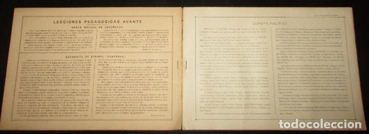 Libros antiguos: LECCIONES PEDAGÓGICAS AVANTE. GEOGRAFÍA DE EUROPA. ANICETO VILLAR. EDITORIAL SALVATELLA. - Foto 3 - 124751631