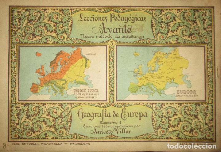 Libros antiguos: LECCIONES PEDAGÓGICAS AVANTE. GEOGRAFÍA DE EUROPA. ANICETO VILLAR. EDITORIAL SALVATELLA. - Foto 7 - 124751631