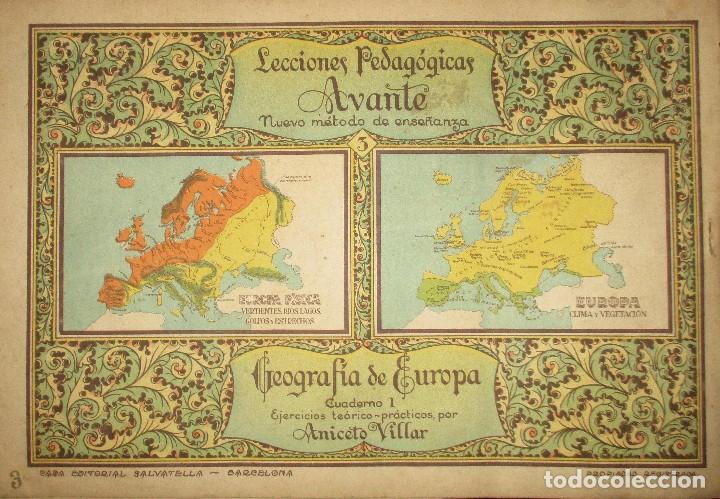 Libros antiguos: LECCIONES PEDAGÓGICAS AVANTE. GEOGRAFÍA DE EUROPA. ANICETO VILLAR. EDITORIAL SALVATELLA. - Foto 8 - 124751631