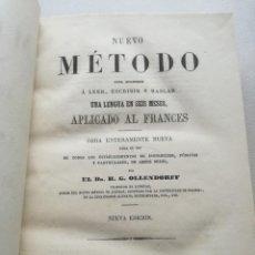 Libros antiguos: NUEVO MÉTODO OLLENDORFF DE FRANCÉS (PARIS, 1873). Lote 124952991