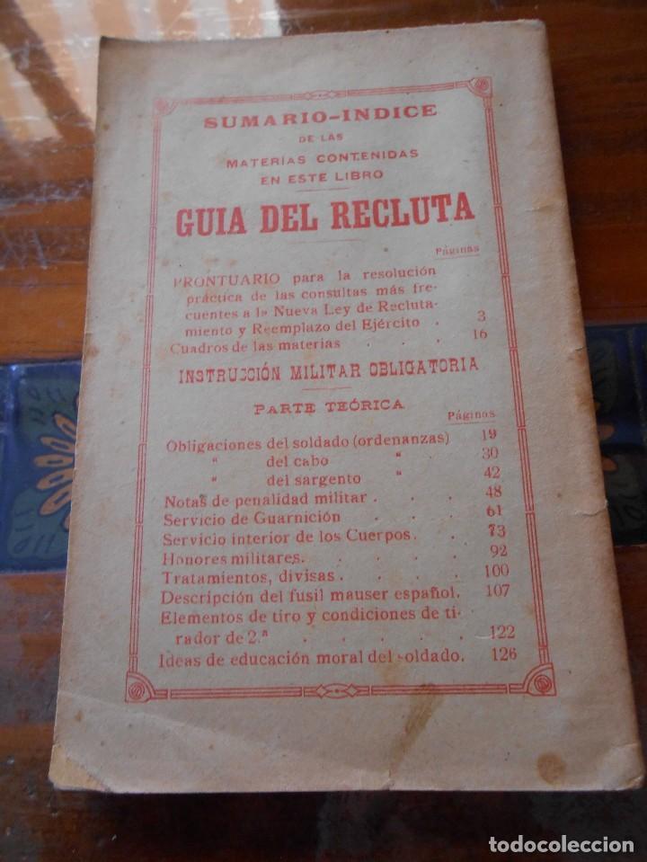 Libros antiguos: APUNTES DE INSTRUCCIÓN PRIMARIA MILITAR. - Foto 2 - 125328339