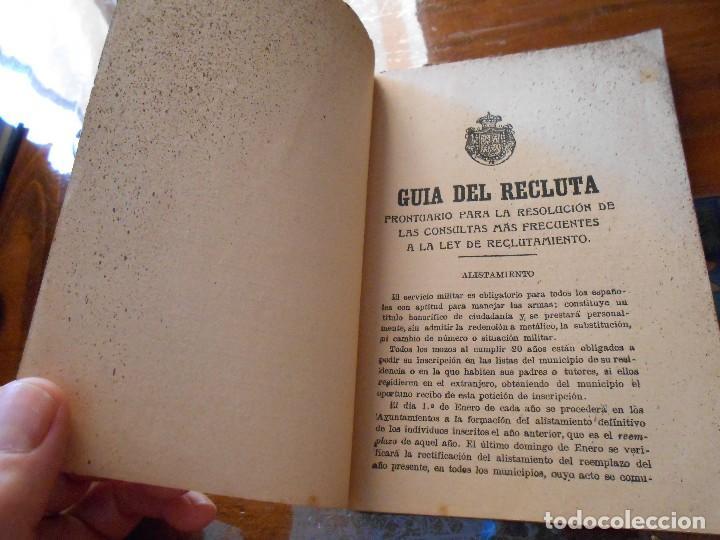Libros antiguos: APUNTES DE INSTRUCCIÓN PRIMARIA MILITAR. - Foto 6 - 125328339