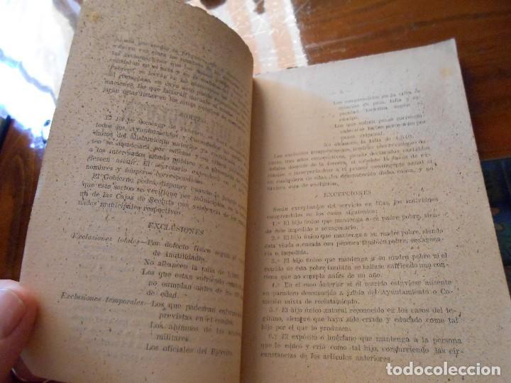 Libros antiguos: APUNTES DE INSTRUCCIÓN PRIMARIA MILITAR. - Foto 7 - 125328339