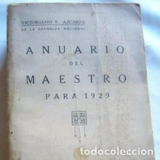 Libros antiguos: ANUARIO DEL MAESTRO PARA 1929. Lote 125346959