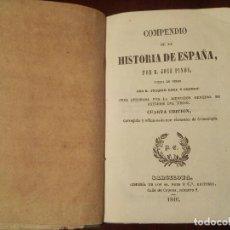Libros antiguos: COMPENDIO DE LA HISTORIA DE ESPAÑA POR JOSÉ PINÓS. PUESTA EN VERSO POR JOAQUÍN ROCA Y CORNET. 1846. Lote 125350355