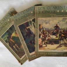Libros antiguos: LOS CUARENTA Y CINCO, ALEJANDRO DUMAS. Lote 126358479