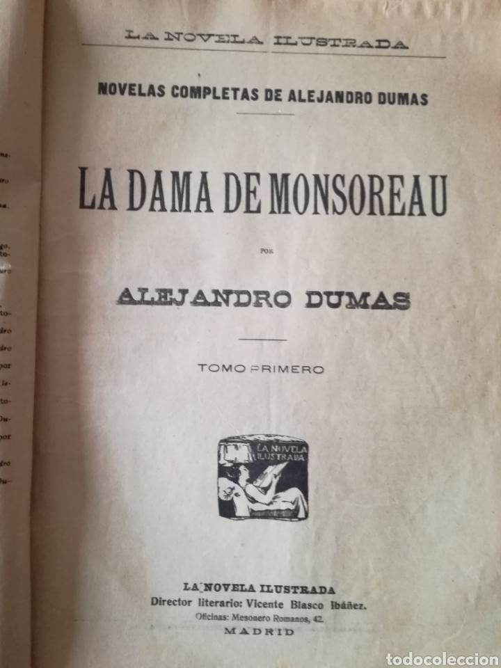 Libros antiguos: LA DAMA DE MONSOREAU, ALEJANDRO DUMAS - Foto 2 - 126358778