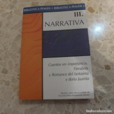 Libros antiguos: III. NARRATIVA - BIBLIOTECA PEMÁN. Lote 127878943