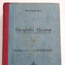 Libros antiguos: MANUAL DE GEOGRAFÍA GENERAL - MODESTO JIMÉNEZ DE BENTROSA - VALENCIA 1925. Lote 128245955