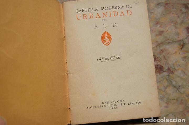 Libros antiguos: CARTILLA MODERNA DE URBANIDAD. EDIT. FTD. 1929. TAPA RUSTICA. - Foto 2 - 128366667