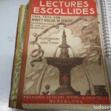 Libros antiguos: LECTURES ESCOLLIDES - 1º EDICION 1935. Lote 128962639