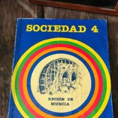 Libros antiguos: SOCIEDAD 4 EDICION REGION DE MURCIA. SANTILLANA. Lote 129167459