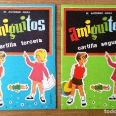 Libros antiguos: LOTE CUADERNOS CARTILLA SEGUNDA + CARTILLA TERCERA AMIGUITOS. M. ANTONIO ARIAS. NUEVOS.. Lote 195433352
