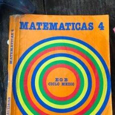 Libros antiguos: MATEMÁTICAS 4 EGB. SANTILLANA 1986. LIBRO DE TEXTO, ESCOLAR. Lote 129545955