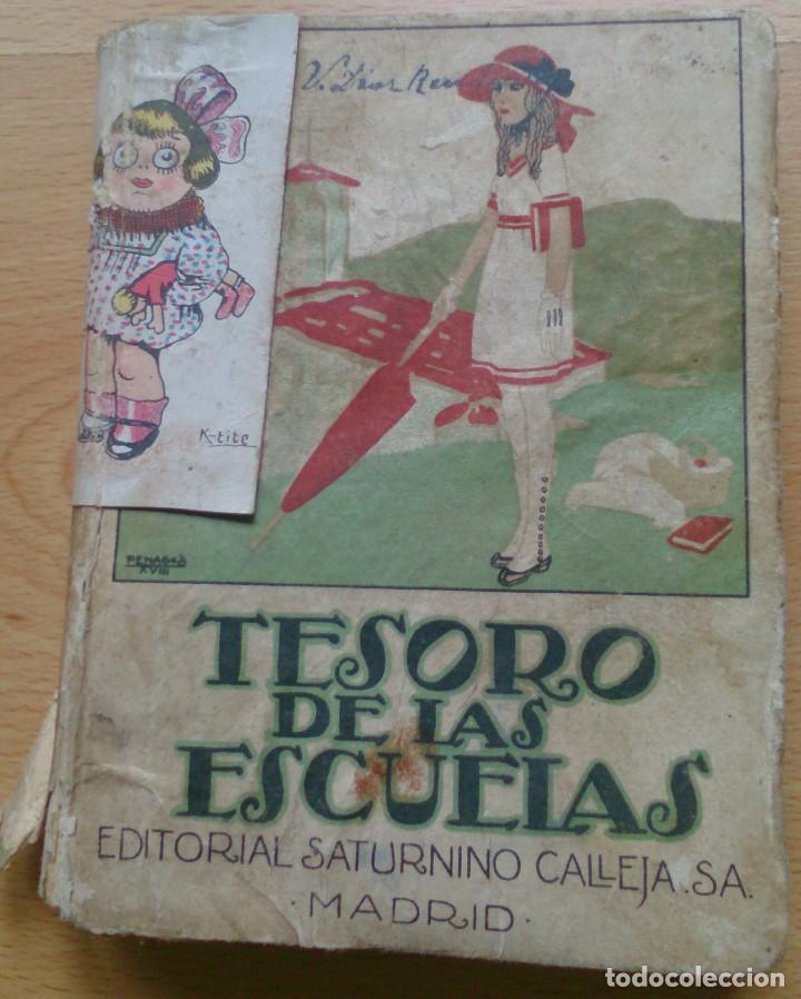 LIBRO ANTIGUO TESORO DE LAS ESCUELAS EDITORIAL SATURNINO CALLEJA SA (Libros Antiguos, Raros y Curiosos - Libros de Texto y Escuela)