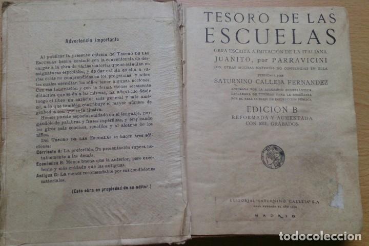 Libros antiguos: Libro antiguo Tesoro de Las Escuelas editorial Saturnino Calleja SA - Foto 4 - 129689379