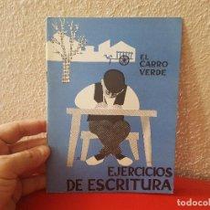 Libros antiguos: ANTIGUO LIBRO DE TEXTO ESCUELA ESPAÑOLA CUADERNO EJERCICIOS ESCRITURA EL CARRO VERDE DELSA 1964. Lote 130004551
