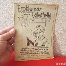 Libros antiguos: ANTIGUO LIBRO DE TEXTO O ESCUELA CUADERNO PROBLEMAS SALVATELLA Nº 1 SERIE 2 1959. Lote 130006035