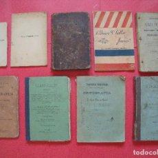 Libros antiguos: FRANCES.-ENSEÑANZA.-ESCUELA.-LOTE DE 9 LIBROS DE TEXTO DE FRANCES DESDE 1859 HASTA 1909.. Lote 130125171