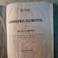Libros antiguos: TRATADO DE GEOMETRÍA ELEMENTAL.. Lote 130187299