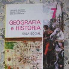 Libros antiguos: GEOGRAFÍA E HISTORIA. EDELVIVES. 7 EGB. AÑO 1981. NUEVO. Lote 130333210