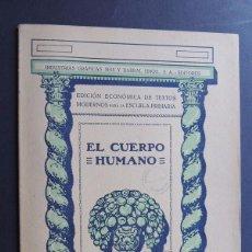 Libros antiguos: EL CUERPO HUMANO / EDICION ECONOMICA - ESCUELA PRIMARIA / SEIX Y BARRAL AÑO 1936 / SIN USAR. Lote 130553550