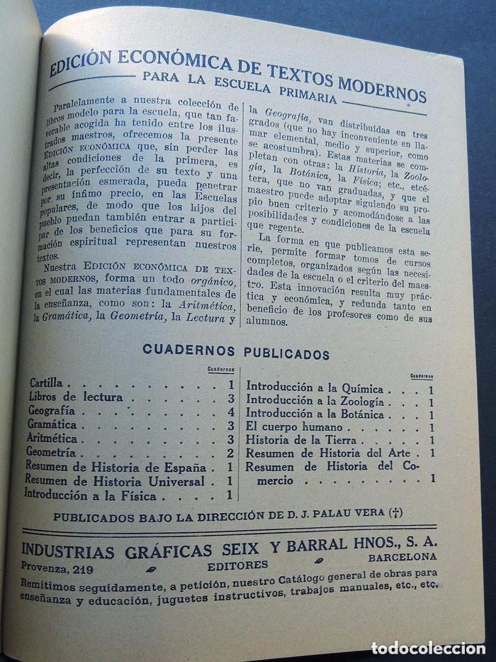 Libros antiguos: RESUMEN HISTORIA UNIVERSAL / EDICION ECONOMICA - ESCUELA PRIMARIA / SEIX Y BARRAL AÑO 1936 /SIN USAR - Foto 3 - 130553802
