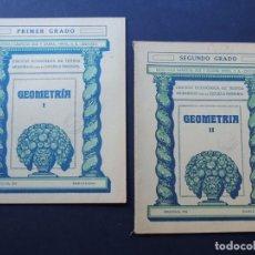 Libros antiguos: GEOMETRIA ( 2 CUADERNOS COMPLETA ) EDICION ECONOMICA - ESCUELA PRIMARIA / SEIX Y BARRAL AÑO 1933. Lote 130553982