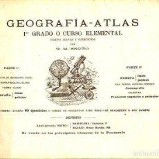 Libros antiguos: GEOGRAFIA ATLAS BRUÑO ELEMENTAL C. 1925. Lote 130615578