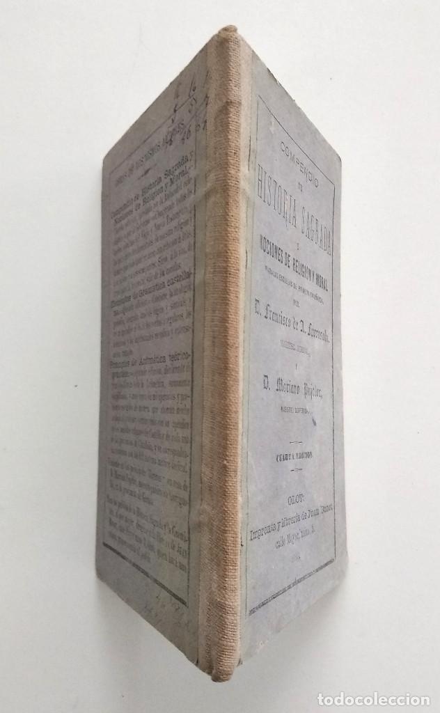 Libros antiguos: COMPENDIO DE HISTORIA SAGRADA PARA 1ª ENSEÑANZA - FRANCISCO FERRUSOLA - OLOT AÑO 1880 - Foto 2 - 130772144