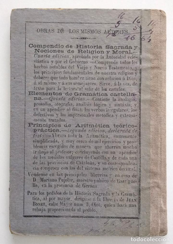 Libros antiguos: COMPENDIO DE HISTORIA SAGRADA PARA 1ª ENSEÑANZA - FRANCISCO FERRUSOLA - OLOT AÑO 1880 - Foto 3 - 130772144