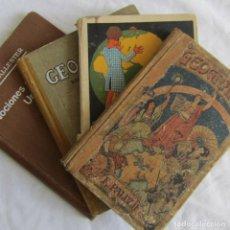 Libros antiguos: 4 LIBROS DE LA ESCUELA DE GEOGRAFÍA, AÑOS 20-30. Lote 131349130