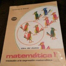 Libros antiguos: MATEMATICAS 1º EGB. Lote 131531254