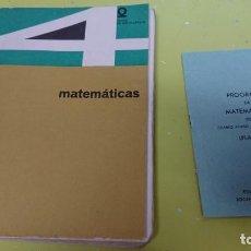 Libros antiguos: LIBRO MATEMÁTICAS CUARTO CURSO ED. BRUÑO PLAN 1957 . Lote 132062774