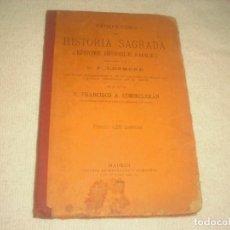 Libros antiguos: COMPENDIO DE HISTORIA SAGRADA COMPUESTO POR LHOMOD 1900. CON NOTAS ACLARATORIAS DE A. COMMELERAN. Lote 132497806