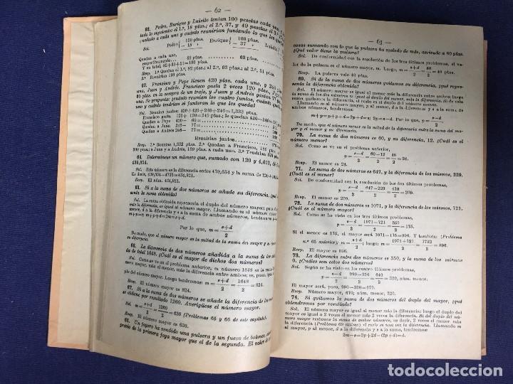Libros antiguos: SOLUCIONES ANALÍTICAS ejercicios problemas aritmética álgebra Jose Dalmau Carles 1899 - Foto 6 - 133078750