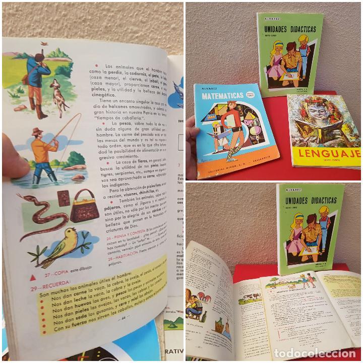 LOTE LIBRO DE TEXTO ESCUELA SEXTO 6 º CURSO ALVAREZ UNIDADES DIDACTICAS LENGUAJE MATEMATICAS 1967 (Libros Antiguos, Raros y Curiosos - Libros de Texto y Escuela)