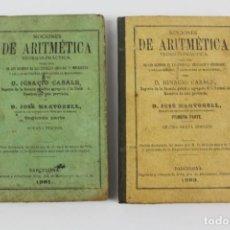 Libros antiguos: L-5099NOCIONES DE ARITMETICA TEORICO-PRACTICA, IGNACIO CASALS Y JOSE MARTORELL. 2 TOMOS 1891,1893.. Lote 133736986