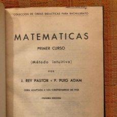 Libros antiguos: MATEMATICAS PRIMER CURSO(17€). Lote 134047234