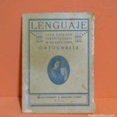Libros antiguos: LENGUAJE ORTOGRAFIA GRADO PRIMERO SEGUNDO CURSO S. T. J. IMPRENTA ALTES (BARNA) SIN FECHA ORIGINAL. Lote 134431854