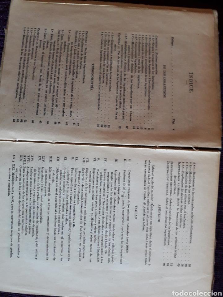 Libros antiguos: TABLAS LOGARITMOS VULGARES - Foto 3 - 135317435