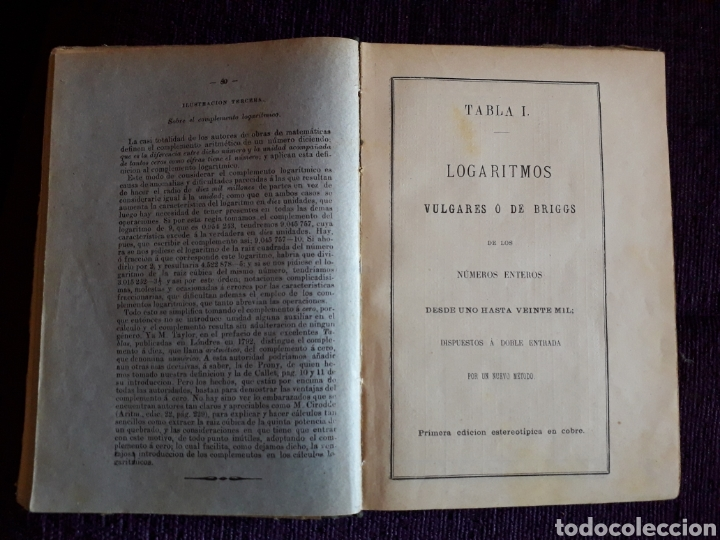 Libros antiguos: TABLAS LOGARITMOS VULGARES - Foto 4 - 135317435