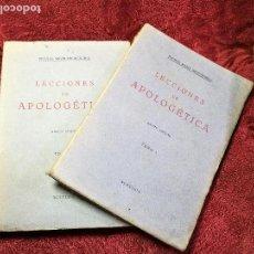 Libros antiguos: LECCIONES DE APOLOGETICA -- NICOLAS MARIN NEGUERUELA -- 5ª EDICION 1939 --TOMO I Y II. Lote 135335362