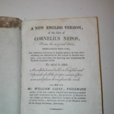 Libros antiguos: A NEW ENGLISH VERSION OF THE LIVES OF CORNELIUS NEPOS. WILLIAM CASEY, BARCELONA 1828. Lote 135350554