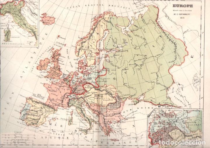 Libros antiguos: CORTAMBERT: ATLAS DES CINQ PARTIES DU MONDE (HACHETTE, 1872) - Foto 2 - 135821534