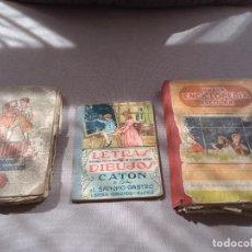 Libros antiguos: LOTE 3 LIBROS ESCOLARES ANTIGUOS ENCICLOPEDIA ESCOLAR Y GRADO. LECTURAS. Lote 136186962